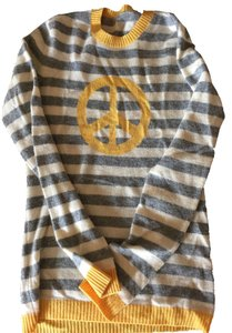 Quo ta tion Cashmere Striped Peace Sweater