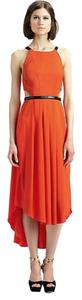 Hunter Bell Cut Out Gown Midi Coral Flowy Contrast Brand New Tags Attached Dress