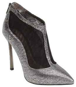 Sam Edelman Shoe Mesh Silver and Black Boots