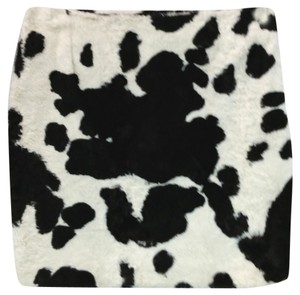 Tark 1 Animal Print Mini Skirt BLACK/WHITE