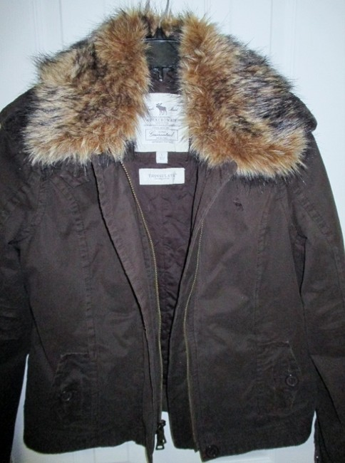 Abercrombie & Fitch & Winter Coat Thinsulate Large Brown Jacket