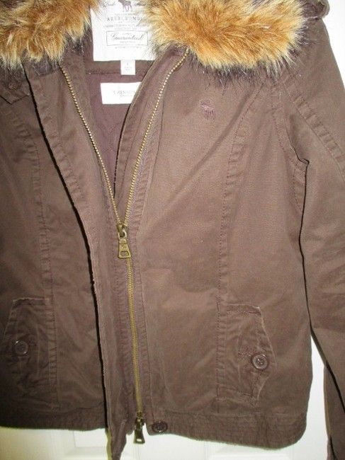 Abercrombie & Fitch Winter Coat Thinsulate Large Brown Jacket