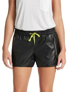 W118 by Walter Baker Leather Faux Leather Rocker Shorts black