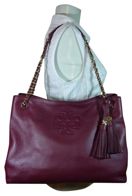 Item - Thea Cabernet Chain Ew Shoulder Burgundy Leather Tote