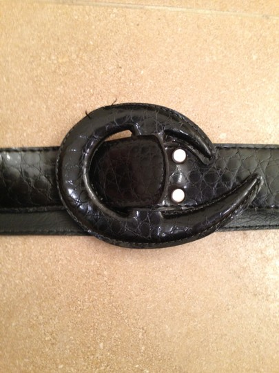 Prestige Black leather belt with leather buckle