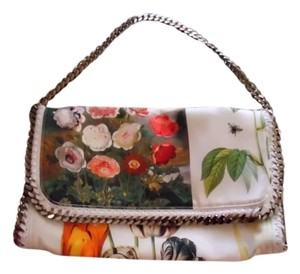 Stella McCartney IVORY/CREAM WITH BOTANICAL COLORATION Clutch