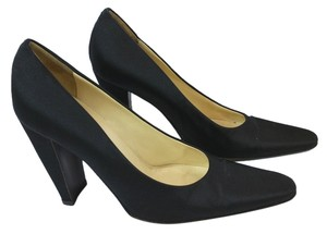 Prada Satin Cocktail Formal Evening 36 BLACK Pumps