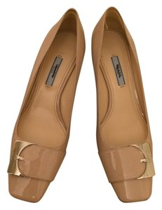 Prada Patent Low Low Heel nude Pumps