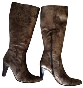 Destroy (Grupo Zafrilla) Tall Side Zipper Spain Side Buttons metallic Boots