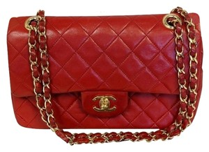 Chanel Lambskin Cc Coco Charm Flap Shoulder Bag