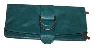 Hobo International Leather Blue Clutch