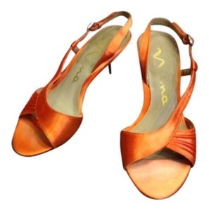Nina Shoes Strappy Heels Oranges and Pinks Formal