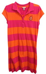 d89191a79f959 Isaac Mizrahi for Target short dress Orange and pink Striped on Tradesy