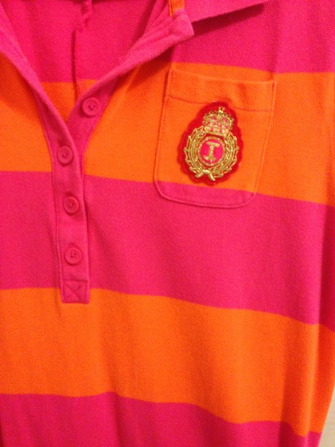 Isaac Mizrahi for Target short dress Orange and pink Striped on Tradesy