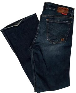Big Star Retro Stretchy Flare Leg Jeans-Dark Rinse