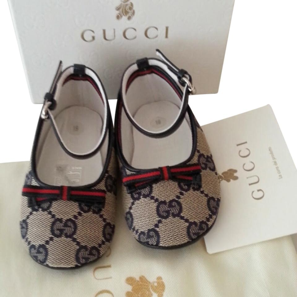aa20befa Gucci Infant's Toddler's & Girl's Gg Print Horsebit Ballet Euro 19 3.5 Box  Baby Logo Leather Detail Slip On New In Flats Size US 4