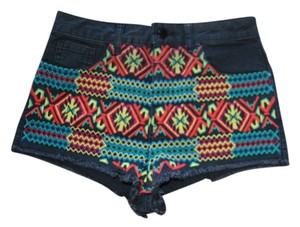 TopShop Mini/Short Shorts black with colorful design