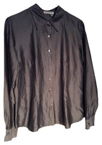 Tracy M Button Down Shirt Metallic gray