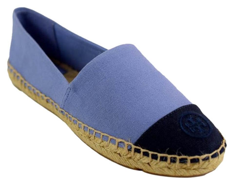 Tory Block Burch Navy/Mosaic Blue Color Block Tory Espadrille Canvas - Flats 0bf8c4