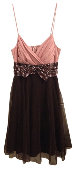 Preload https://img-static.tradesy.com/item/954439/jodi-kristopher-pink-and-brown-polka-dot-empire-waist-knee-length-cocktail-dress-size-6-s-0-0-650-650.jpg
