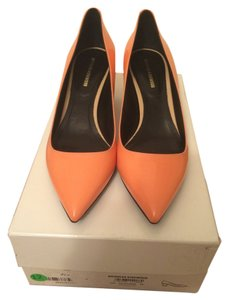 Nicholas Kirkwood Patent orange Pumps