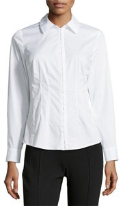 Laundry by Shelli Segal Longsleeve Work Button Down Shirt Optic White