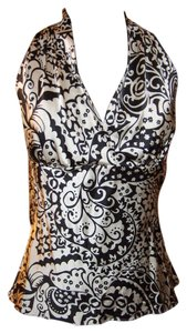 Express Black/White Halter Top