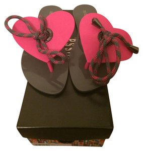 Melissa Bliss Heart Grey Pink GREY/PINK Sandals