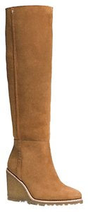 Coach Real Shearling Foor Beige Boots