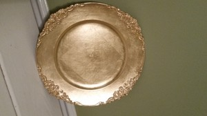 Koyal Wholesale Gold Vintage Charger Plates Tableware