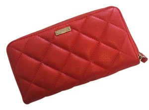 Kate Spade Liberty Street Lacey Zip Around Wallet Diamond Quilted Leather