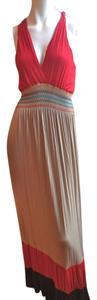 Red, Brown, Tan Maxi Dress by bailey blue