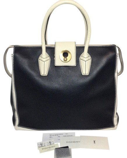 Preload https://img-static.tradesy.com/item/954670/saint-laurent-muse-muse-two-ysl-two-cabas-tote-black-and-white-leather-canvas-satchel-0-0-540-540.jpg