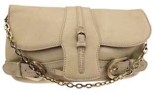 Jimmy Choo Tayton Clutch Leather Cream Shoulder Bag