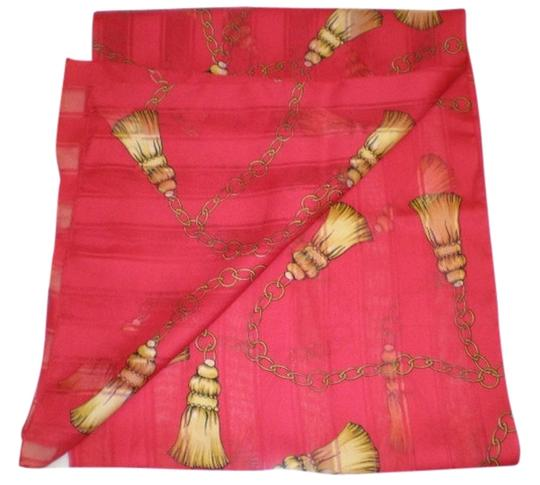 Preload https://img-static.tradesy.com/item/954729/red-with-gold-and-black-georgette-scarfwrap-0-0-540-540.jpg