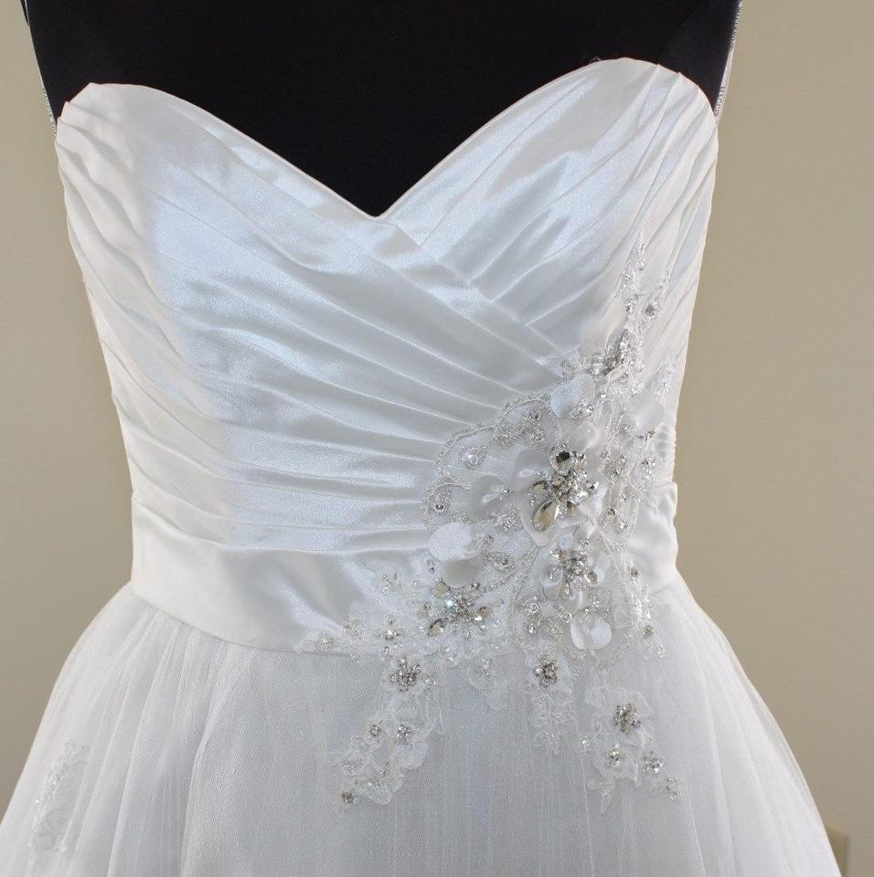 Maggie Sottero Ivory and Pewter Organza Isadora Marie J1419 Formal Wedding Dress Size 10 (M) 48% off retail