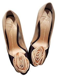 Giuseppe Zanotti Flower Pink and Navy Blue Pumps