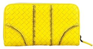 Bottega Veneta Bottega Veneta Sunset Intrecciato Woven Cervo Leather Wallet