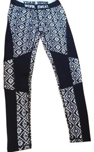 Nikibiki Tribal Print Logo Elastic Band Activewear Pants, size Medium