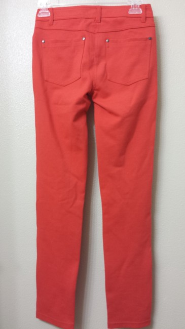 Romeo & Juliet Couture And Orange Tights Straight Pants Red