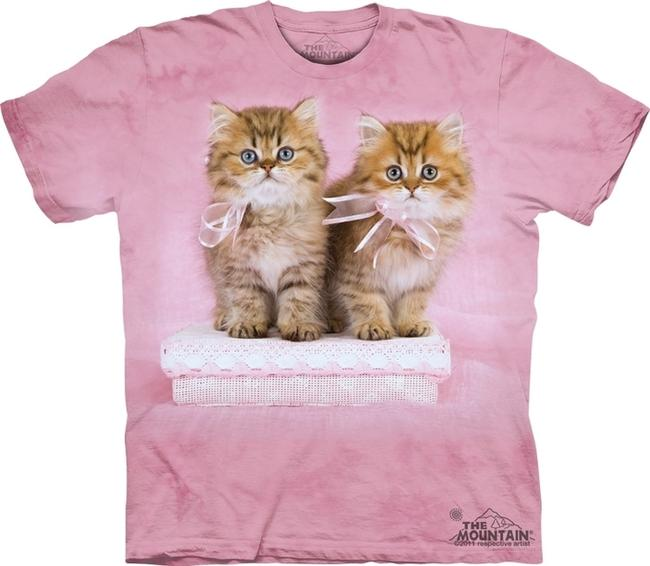 Other Kitten Casual Party Print T Shirt Pink