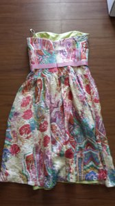 Kay Unger short dress Floral Silk Sweetheart on Tradesy