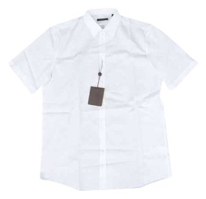 Louis Vuitton Monogram Short Sleeve Shirt Button Down Shirt White