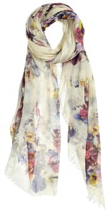 Franco Ferrari Franco Ferrari Floral Print Scarf New With Tags