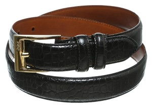 Ralph Lauren Ralph Lauren Black Crocodile Embossed Belt (Size S)