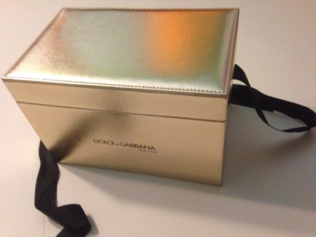 Dolce&Gabbana New D&g The One Gold Jewelry Cosmetic Makeup Storage Bow Image 1