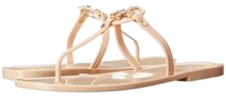 f98bf03e3d77b4 Tory Burch Blush Mini Miller Jelly Thong with Crystals Sandals Size ...