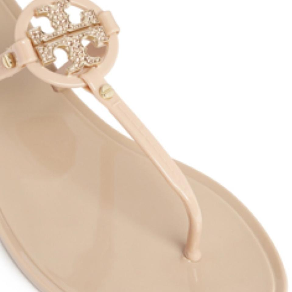 db31bda3a3c4 Tory Burch Blush Mini Miller Jelly Thong with Crystals Sandals Size US 8  Regular (M