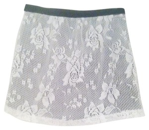 Forever 21 Mini Skirt White lace