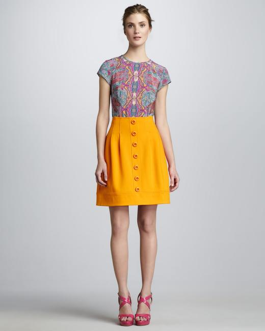 Nanette Lepore Mini Skirt Orange
